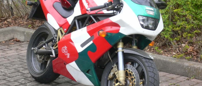 THE CRANKCASE. Bimota Db 2 SR tricolore rental hire motorcycle