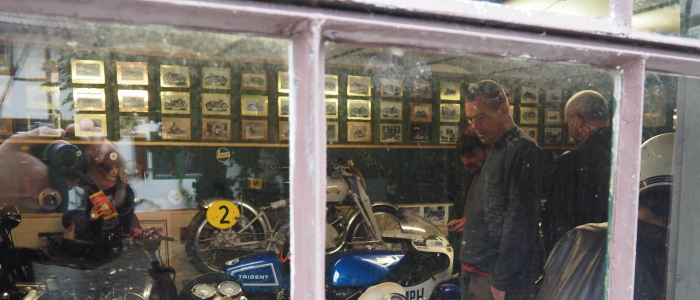 Motorcycle tours in Germany visit to private vincent museum