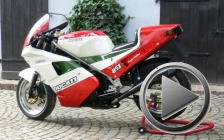Ducati 851 tricolore 1988 for rental hire classic motorcycle touring - A great ride in the Taunus