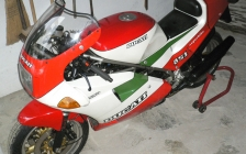 Ducati 851 tricolore 1988 for rental hire classic motorcycle touring - start up