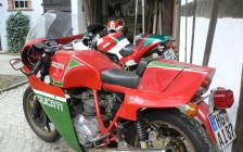 Ducati Mike Hailwood Replica MHR rental hire motorcycle touring holiday - tea party 2011