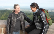motorcycle tours Europe guests feedback testimonials and friends - Natalie and Simon