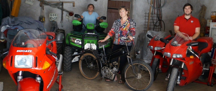 motorcycle tours Europe guests feedback testimonials and friends - Patrick, Martine and Nicolas