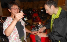 motorcycle tours Europe guests feedback testimonials and friends - Olivier and Kumiko