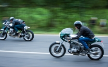 Motorcycle touring holiday and tours Europe classic bike and car events - 2015 Glemseck Cafe Racer tour film