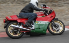 Motorcycle touring holiday and tours Europe classic bike and car events - Ducati Mike Hailwood Replica at the Montlhery Cafe racer festival