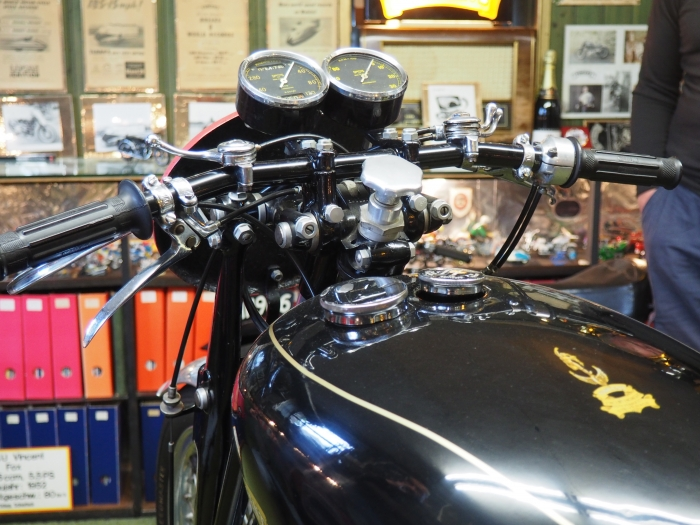 Motorcycle tours in Germany visit to private vincent museum -